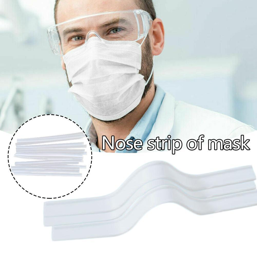 100 Pcs Outdoor Mask Nasal Bridge Strip Fitting Anti-Kazakh DIY Mask Strip Fitting Shaped PP Bridge Nose Strip Strip Bimeta Q7B3