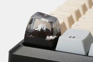 Ручной работы крепление Fuji дерево и смола Artisan ключ крышка SA микро земли крышка e ключ крышка для Cherry MX механическая клавиатура