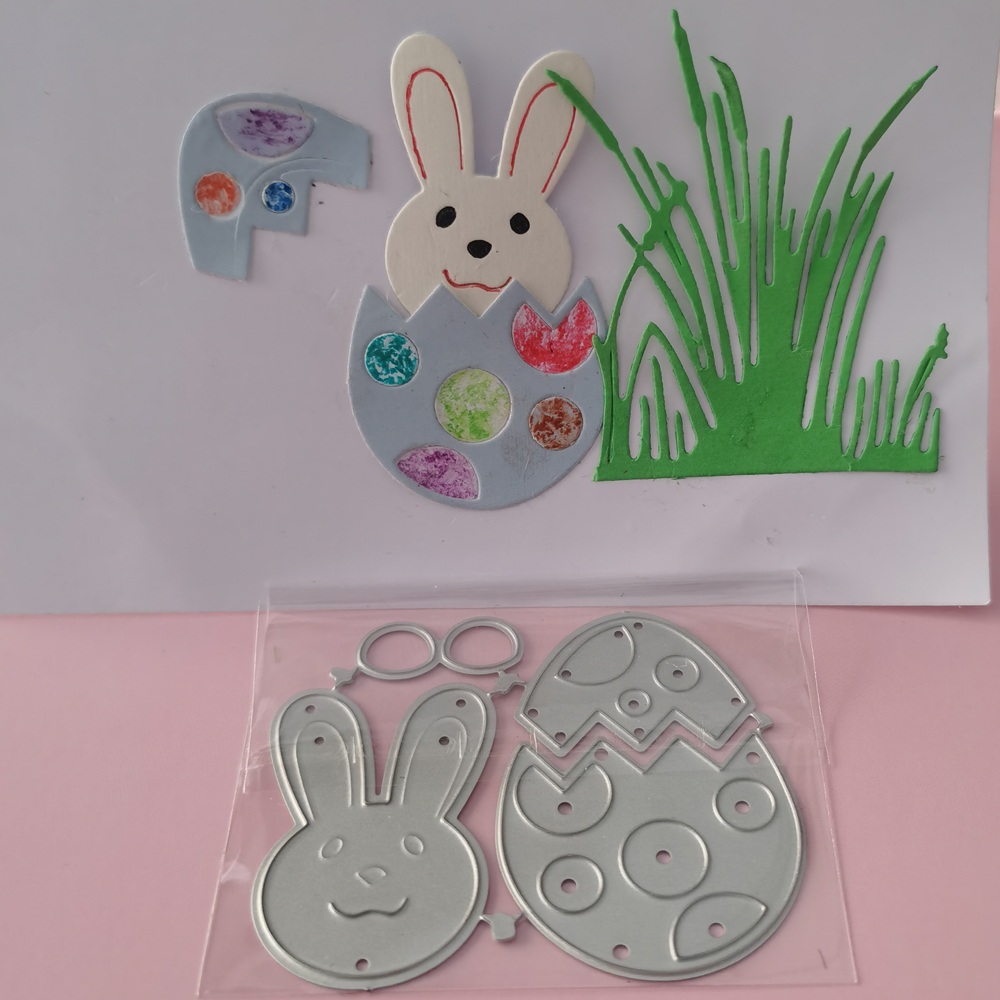 Metal Cutting Die For Easter Rabbit And Egg DIY Scrapbook Photo Album Paper Card Decoration Process New Embossing Die