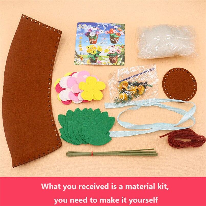 8 PCS Flower Pot Crafts Toys for Children Kids DIY Potted Plant Kindergarten Educational Toys Montessori Teaching Aids Girls Toy