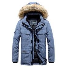 Jacket Men Down Winter Fashion Brand Fur Against-20-Degree M-6XL Windbreaker Hoode-Fur-Collar
