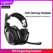 Logitech astro a40 wired 7.1 canais gaming headset fone de ouvido com microfone adequado para mac ps4 xbox e-sports players