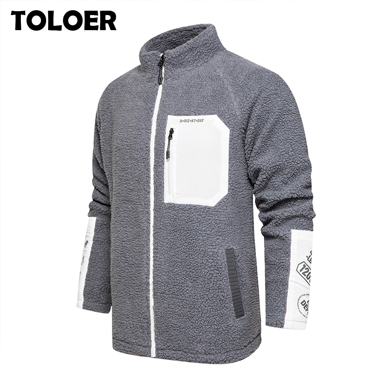 Fleece Jacket Coat Men Winter Thermal Fleece Jackets Army Green Clothes Men's Windproof Thicken Warm Fashion Hoodies Coats Male