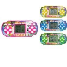 1 pçs portátil mini tetris game console lcd handheld jogadores de jogo crianças educacional alívio do estresse eletrônico crianças brinquedos engraçados