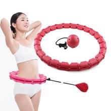 Aptidão esporte inteligente hoop cintura fina ajustável exercício ginásio círculo anel equipamentos de fitness cinto apoio cintura volta