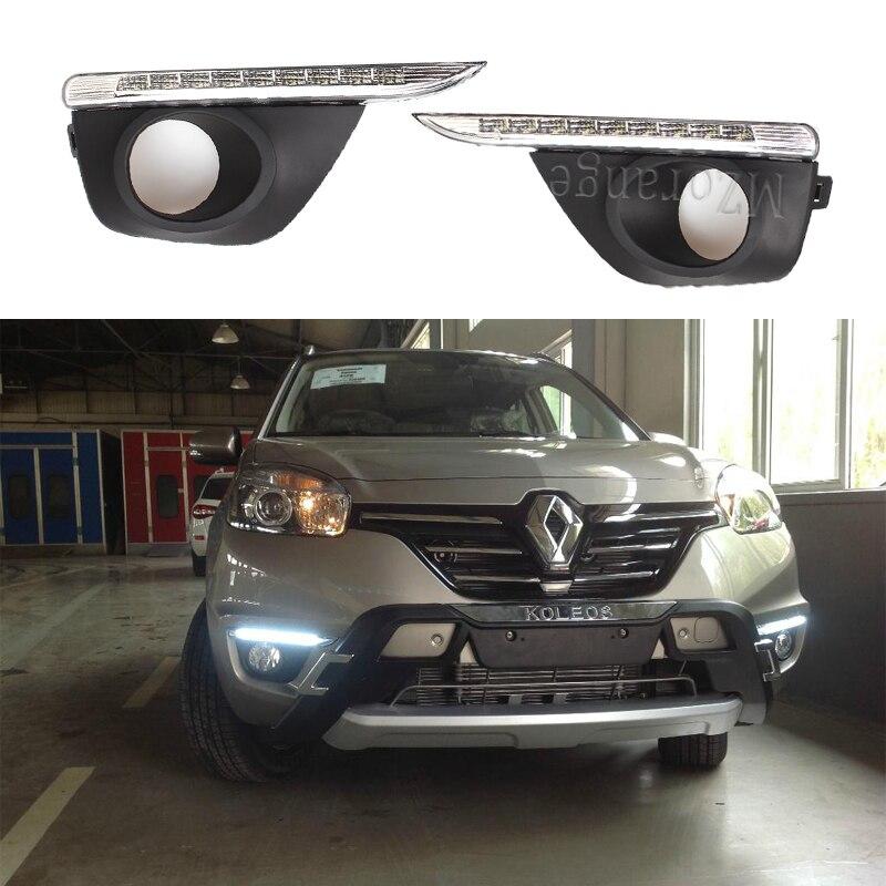Для Renault koleos 2011 2012 2013 2014 противотуманный светильник s головной светильник светодиодный DRL дневные ходовые огни головной светильник s противо...