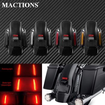 Extensión de sistema de guardabarros trasero LED estilo CVO para motocicleta, conjunto de Fascia para Harley Touring Road King Electra Street Glide FLHX 09-2013