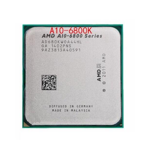 Kostenloser versand AMD A Serie APU X4 A10 6800K A10 6800K FM2 Quad Core CPU 100% arbeits richtig desktop Prozessor