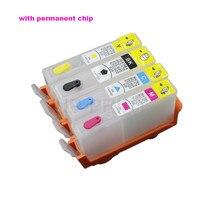 1 комплект Заправляемый картридж с чипом совместимый для hp 902 903 904 905 Officeje 6950 6960 6961 6963 6964 6965 6970 6975