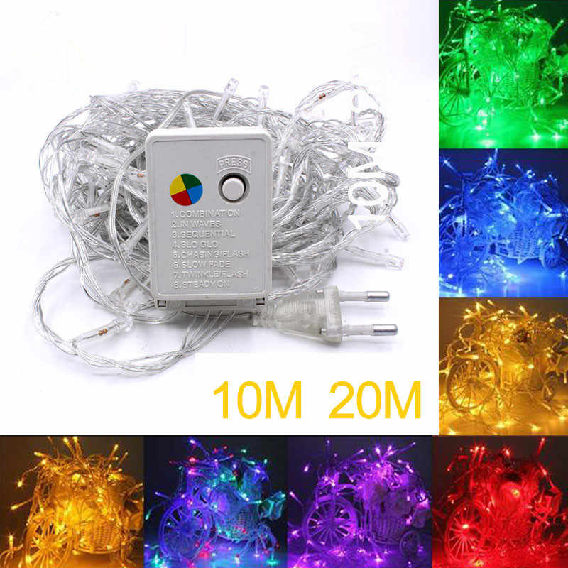 Najniższa cena 2/5/10M 10-100 LED boże narodzenie wieniec drutu wąż ledowy bajki światła do użytku wewnątrz pomieszczeń nowy rok boże narodzenie dekoracje ślubne