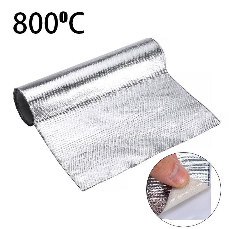 25 50cm 1 Roll Car Interior Self-adhesive Aluminum Heat Insulation Automotive Protective Film For Bonnet Roof Engine Hood Mat
