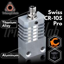 Trianglelab Schweizer CR10S PRO Hotend upgrade KIT Präzision aluminium Kühlkörper Titan Wärme PAUSE 3D drucker Hotend für CR 10S PRO
