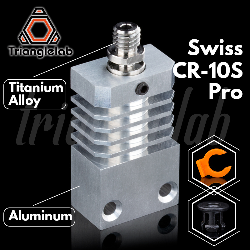 Trianglelab Swiss CR10S PRO Hotend Upgrade KIT Precision Aluminum Heatsink Titanium Heat BREAK 3D Printer  Hotend For CR-10S PRO