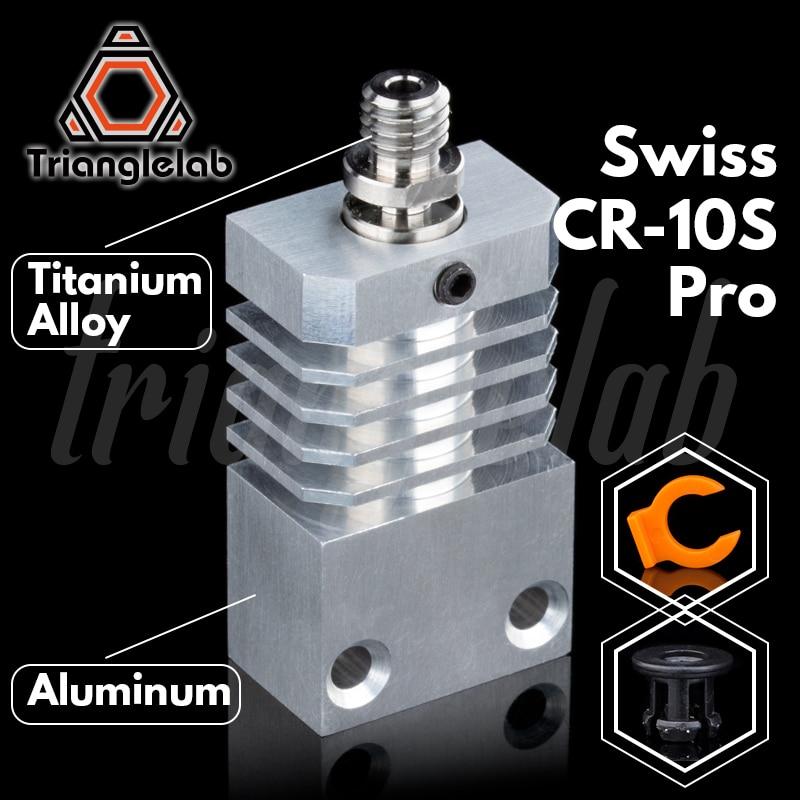Trianglelab Swiss CR10S PRO Hotend upgrade KIT Precision aluminum Heatsink Titanium Heat BREAK 3D printer  Hotend for CR-10S PRO