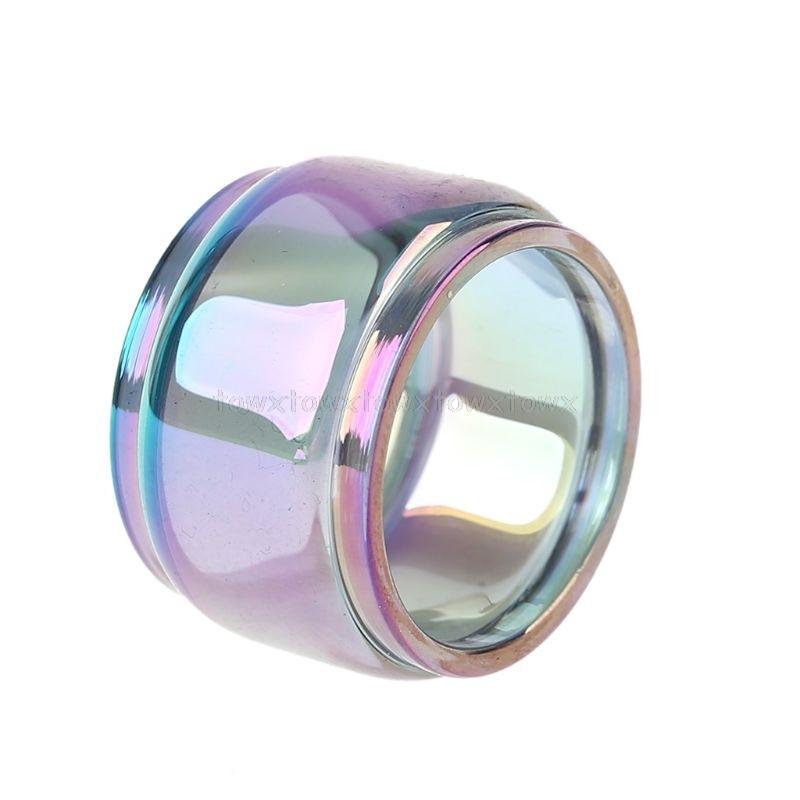 Rainbow Pyrex Glass Tube Glass Tank For TFV8 Big Baby Atomizer Fatboy Version O18 19 Dropship