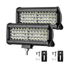 цена на Led Bar Offroad 144W 7 Inch Work Light 6000K Spot Beam Led for Boat Car Tractor Truck 4x4 SUV ATV 12V 24V Lamp led Driving Light