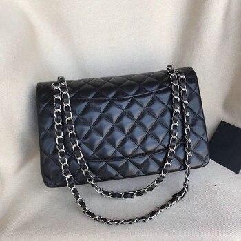 Women's Luxury Designer Quilted Elegant Retro Shoulder Bag Chain Flap Crossbody Bag Handbag Office Daily Fashion Caviar Black janeke black quilted travel bag medium