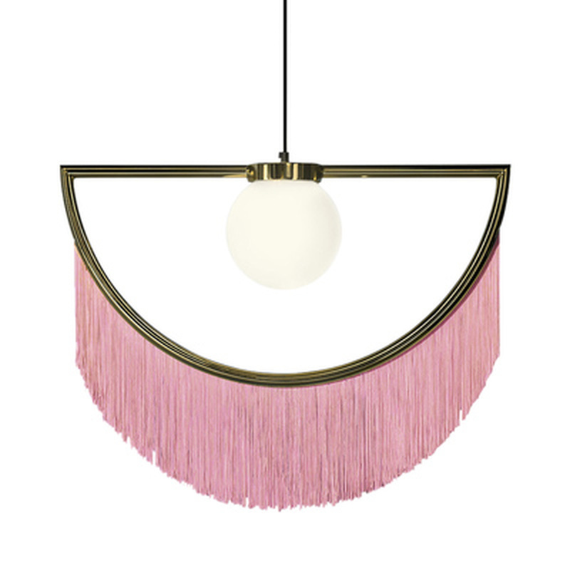 Modern colorful Semicircle pendant lamp creative tassel lights kitchen living room bedroom decoration home decor pendant lights