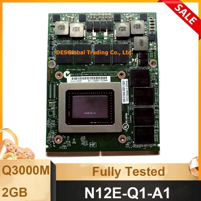Original Quadro 3000M Q3000M Video Graphics Card With X-Bracket N12E-Q1-A1 For Dell M6600 M6700 M6800 HP 8740W 8760W 8770W