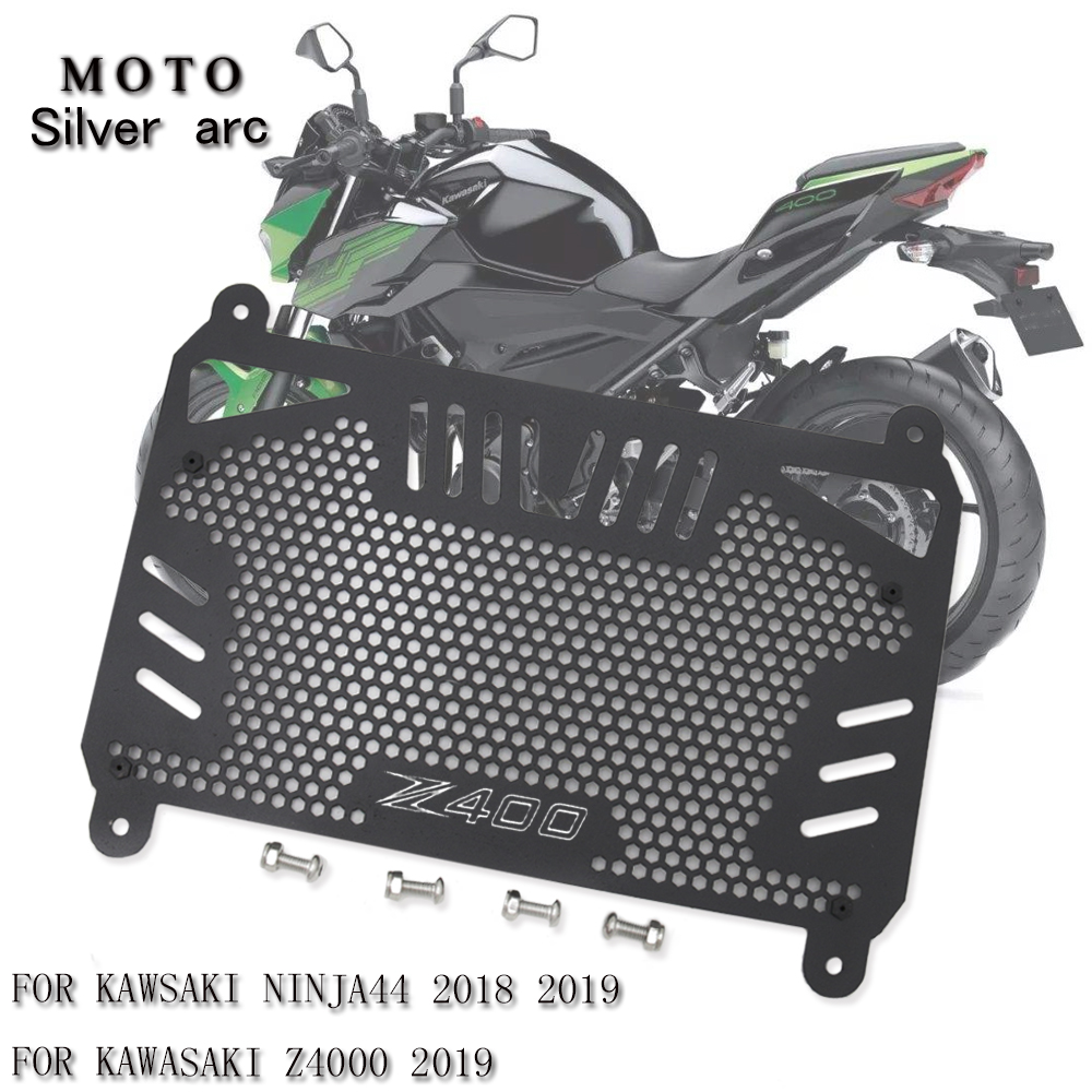 New Motorcycle Radiator Guard Grille <font><b>Oil</b></font> Cooler Cover For KAWASAKI Z400 Z <font><b>400</b></font> NINJA400 <font><b>NINJA</b></font> <font><b>400</b></font> Aluminum image