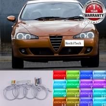 Для Alfa Romeo 147 2005-2010 Высокое качество многоцветные ангельские глазки светодиодный rgb фара Halo Кольцо Набор RF дистанционное управление