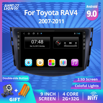 2din Android 9.0 Car Radio For Toyota Rav4 2007-2011 Car Multimedia Video Player Car Navigation Gps Autoradio Stereo Player 2DIN image