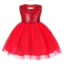 AmzBarley Toddler Girls tutu dress Sequined Backless girls Mini dresses for party and wedding Birthday Lace Cotton Ball gown