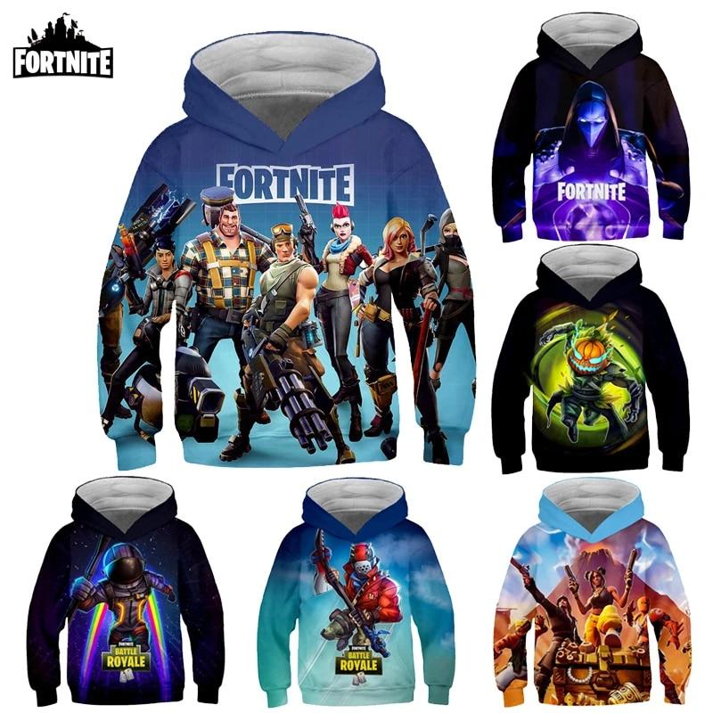 Fortnite customized Hoodie Family Clothing Kid Hoody Long Sleeve Men Pullover