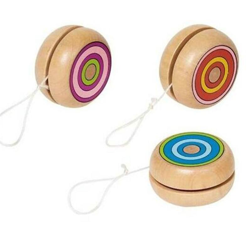 Classic Wooden YOYO Yo Yo Kids Classic Toys Xmas Gifts Party Favors Kindergarten School Carnival Loot Bag Filler