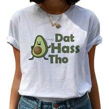 Повседневная Уличная женская футболка с коротким рукавом авокадо