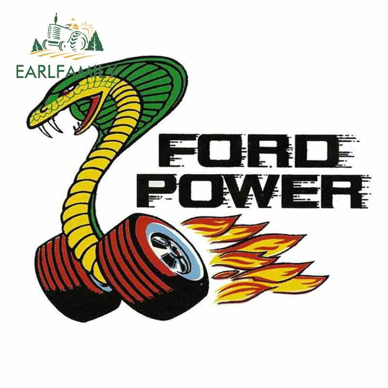 EARLFAMILY 13cm x 10cm for Ford Power Comic Funny Car <font><b>Stickers</b></font> Bumper Trunk Truck Graphics Windshield Bumper <font><b>Windows</b></font> Fine Decal image