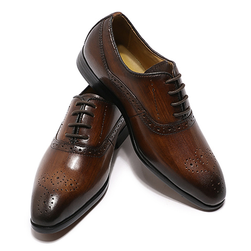Boys Leather Shoes Lace Up Party Wedding Dress Shoes Toddler Size 11 5 Oxford Loafer Shoes Fashion Formal Shoe For 2020 Summer