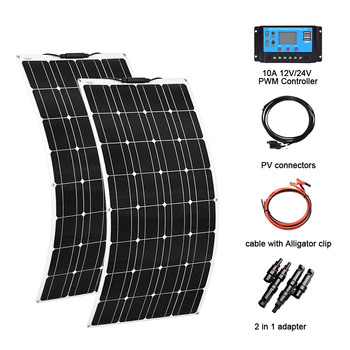 solar energy whole solar system 100w flexible solar panel 200w 100w power home kit solar three types xinpuguang 600w solar system kit 6 100w solar panel monocrystalline silicon cell photovoltaic module home roof power generation