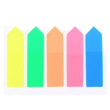 100Pcs Sticky Note Marker Label for School and Office Colored Small Labels, Page Markers, 12 x 44 mm, 5 Colors