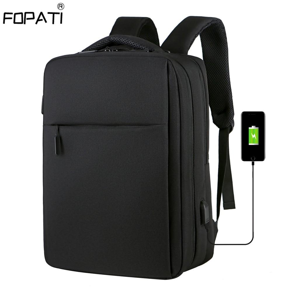 Мужской рюкзак с защитой от кражи 17,3 дюйма, рюкзак для ноутбука с USB зарядкой, школьная сумка, водонепроницаемая дорожная сумка, 15,6 школьные ...