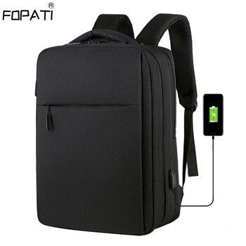 Мужской рюкзак с защитой от кражи 17,3 дюймов, рюкзак для ноутбука с зарядкой через usb, школьная сумка, водонепроницаемая дорожная сумка, 15,6 шк...