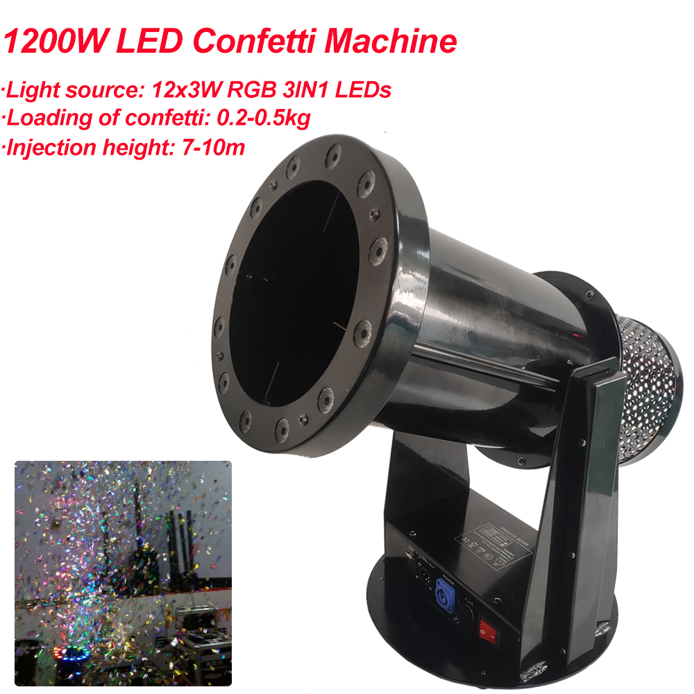 Free Shipping High Quality 1200W Led Wedding Confetti Cannon Machine Wedding Machine Confetti Machine For Party Stage
