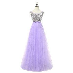 Image 5 - אלגנטי גבירותיי ללא משענת משתה שמלת ערב קצר וארוך אופנה שושבינה חתונה ורוד שמלת vestidos דה פיאסטה