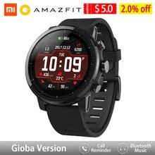 Amazfit ستراتوس ساعة ذكية التطبيق Ver 2 نظام تحديد المواقع مراقب معدل ضربات القلب 5 ATM مقاوم للماء شاومي النظام البيئي Smartwatch