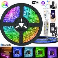 5050 LED-Licht Streifen Smart Beleuchtung Für Schlafzimmer Dekoration Flexible Diode Lampe String Wifi Bluetooth Controller Hintergrund RGB