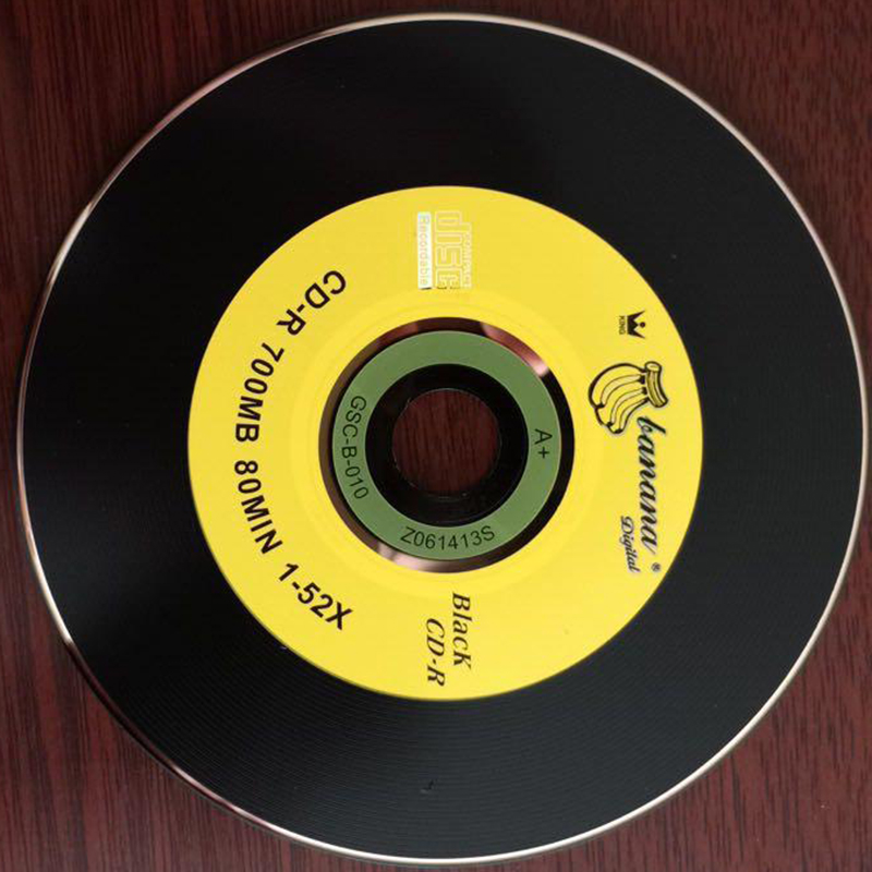 50pcs/lot Blank DJ Black Printed CD Drives CD-R Disks Bluray 700MB 80min 52X Branded Recordable Media Disc Spindle Write 4