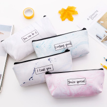 New student stationery marble PU pencil case multifunctional zipper