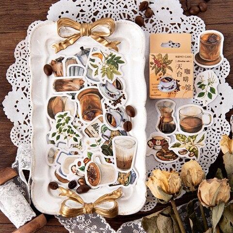 20 pacotes lote novo rooftop cafe adesivo decoracao diy scrapbooking adesivo papelaria kawaii diario