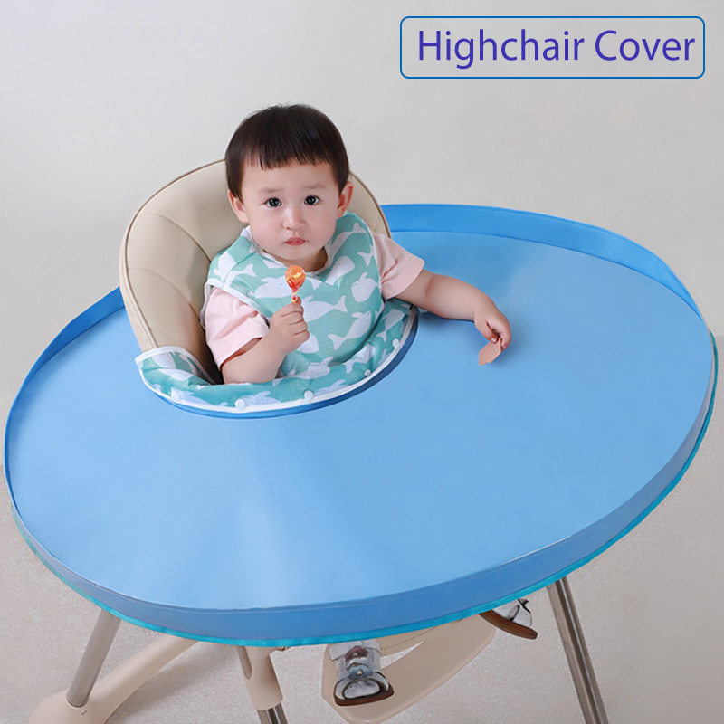 Portable Baby Highchair Cover Children Eating Table Mat Waterproof Feeding Mat For Kids Anti-dirty Bib Feeding Accessories