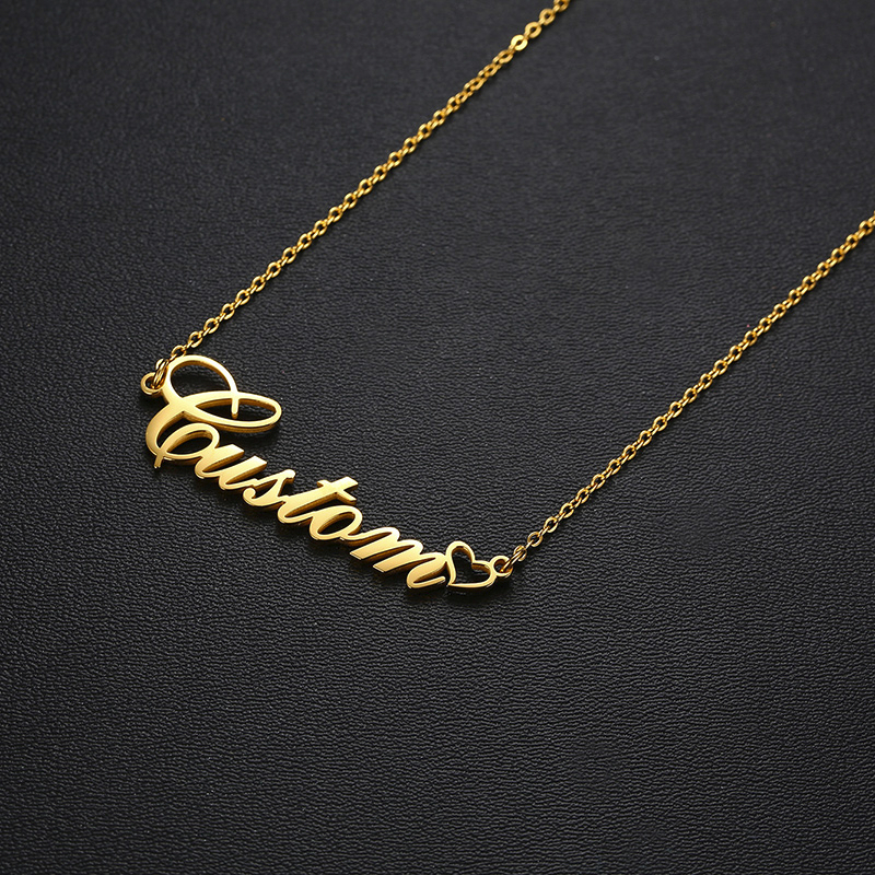 CUSTOM  PERSONALIZED NAME NECKLACE STAINLESS STEEL CHILDREN NAMES NECKLACE NAME JEWELRY BRIDESMAID GIFTS