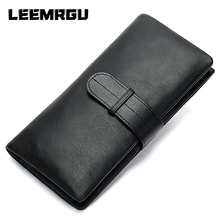 Long Wallet Luxury Leather Zipper Leather Leather Handle Wallet Phone Card Cardet Wallet Coin Purse Cell Phone Bag