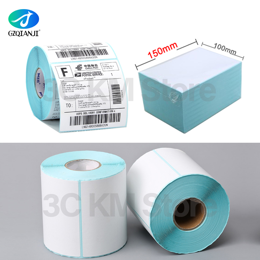 Pos 108mm 4 Inch Thermal Labels Papaer Stickers Barcode Label Paper Roll White 100*100*500 Or 100*150*250 Or 100*150*500