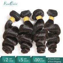 """Ali FumiQueen Haar Brasilianische Menschliche Haarwebart Bundles 10 """" 26"""" Natürliche Farbe Nicht Remy Menschenhaar erweiterung Kostenloser Versand"""