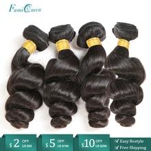 "Ali FumiQueen Hair Brazilian Human Hair Weave Bundles 10"" 26"" Natural Color Non Remy Human Hair Extension Free Shipping"