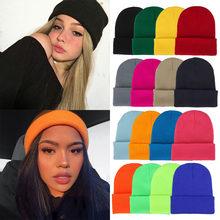 2020 kış şapka kadınlar erkekler için yeni Beanies örme düz serin şapka kızlar sonbahar kadın bere sıcak Bonnet rahat kap toptan
